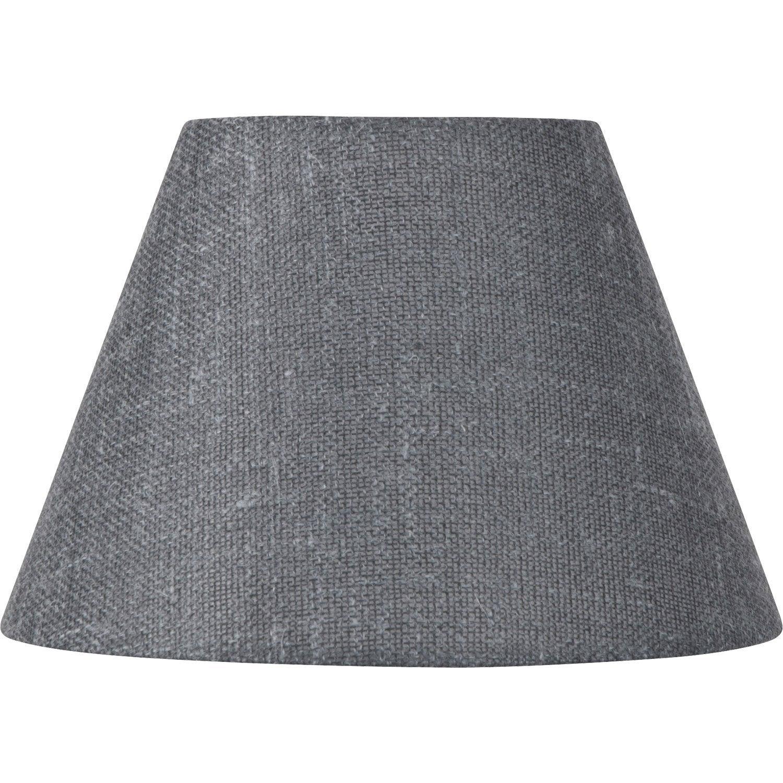 abat jour sweet 25 cm lin ardoise leroy merlin. Black Bedroom Furniture Sets. Home Design Ideas