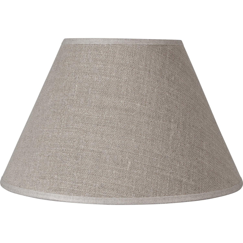 abat jour sweet 22 cm lin naturel leroy merlin. Black Bedroom Furniture Sets. Home Design Ideas