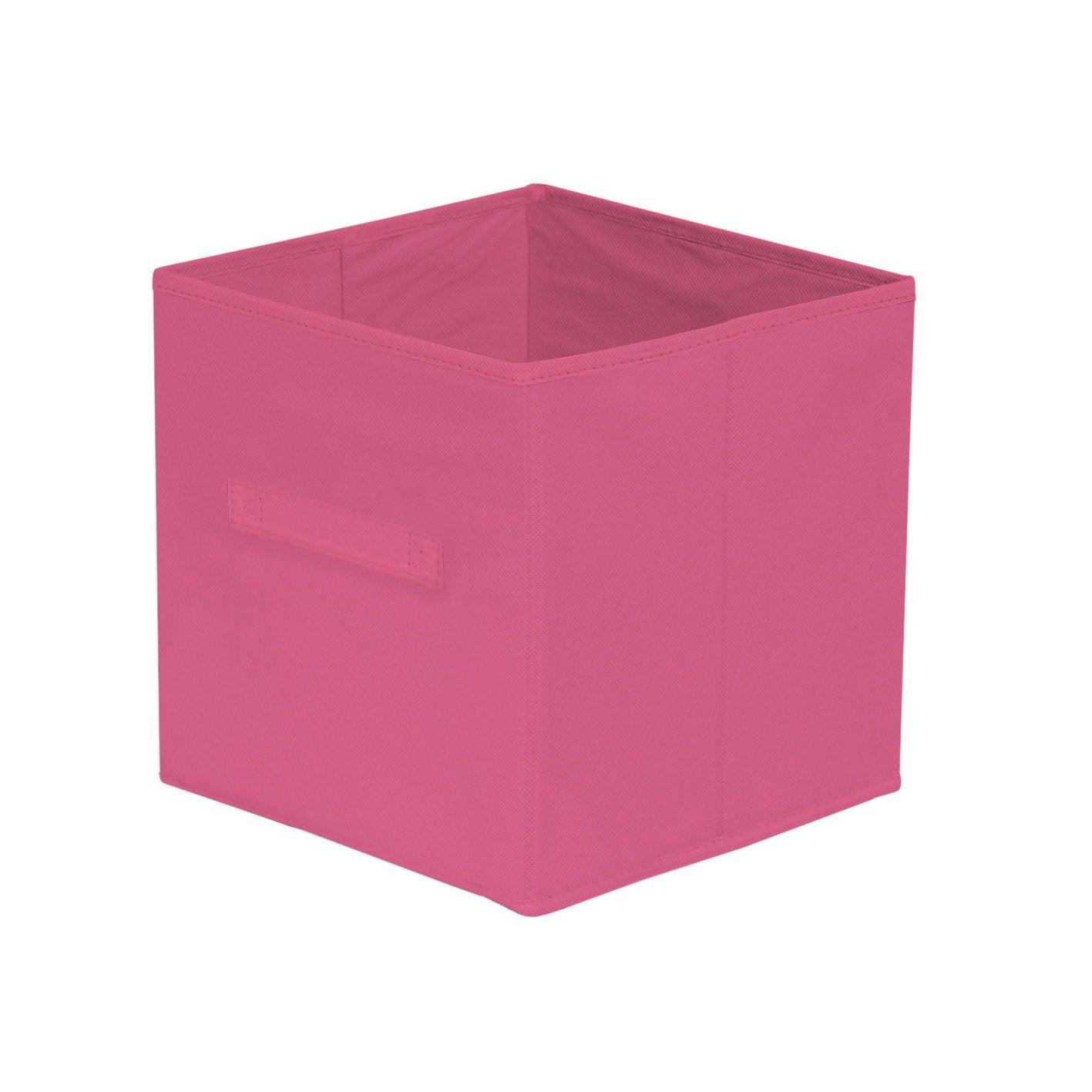 panier de rangement multikaz rose fonc x x cm leroy merlin. Black Bedroom Furniture Sets. Home Design Ideas