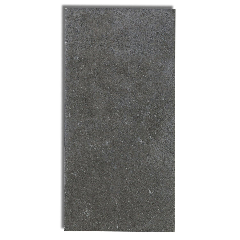 Carrelage mural astuce en fa ence noir 10 x 20 cm for Plinthe carrelage noir brillant 10 x 20