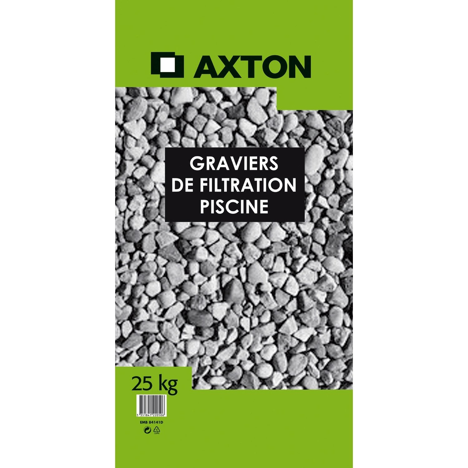 Graviers de filtration axton 25 kg leroy merlin for Sable de filtration pour piscine