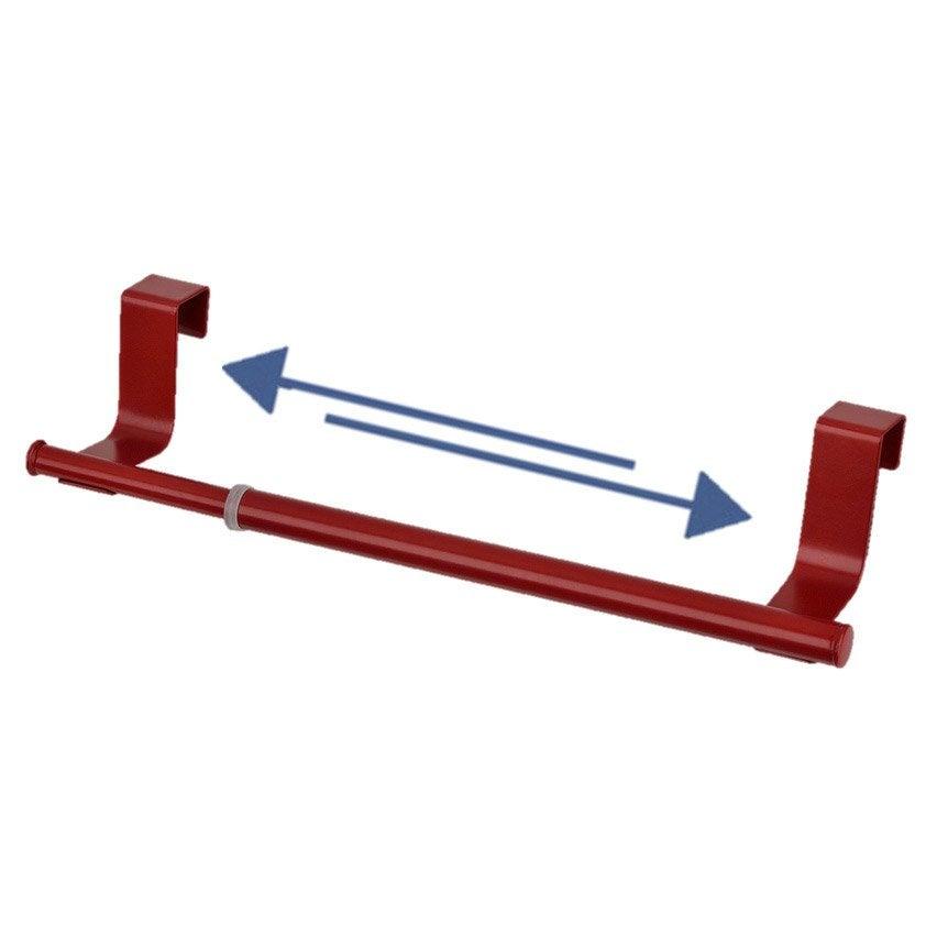 Barre porte torchon extensible suspendre rouge rouge n 3 leroy merlin - Barre extensible leroy merlin ...