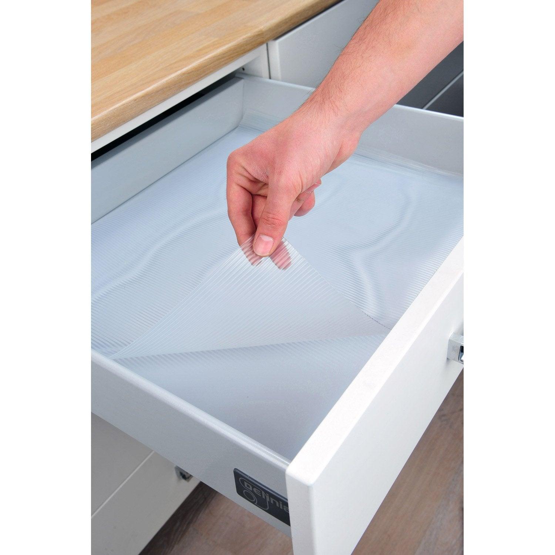 Tapis fond de tiroir antid rapant x p 0 2 cm leroy for Tapis d evier de cuisine