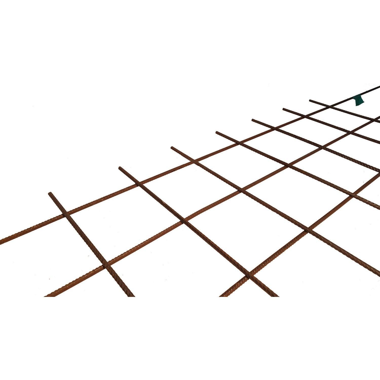 Treillis soud dallage 2 4 x 1 2 m diam 7 mm leroy merlin - Treillis soude pour terrasse ...