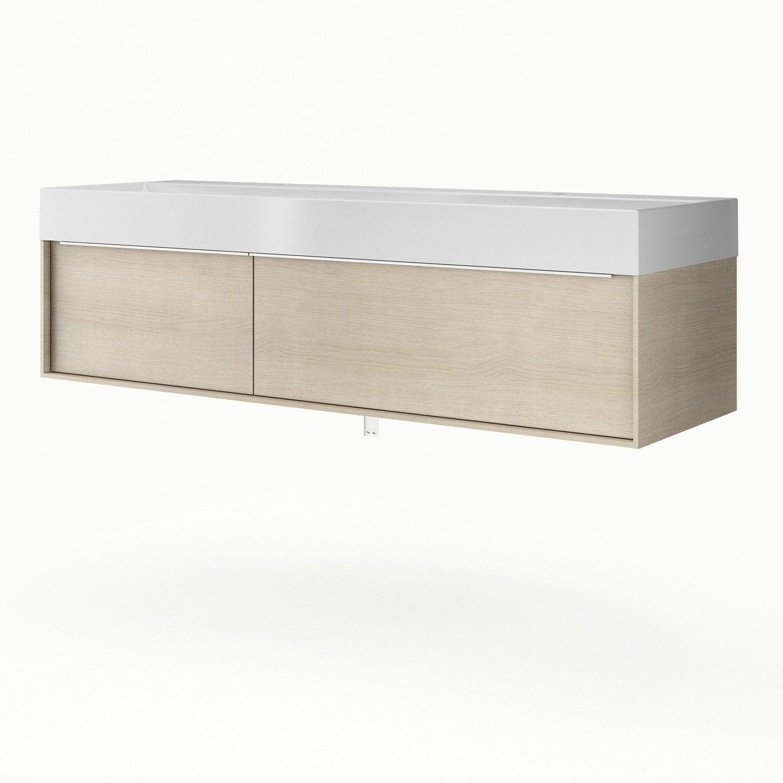 meuble vasque 150 cm neo frame leroy merlin