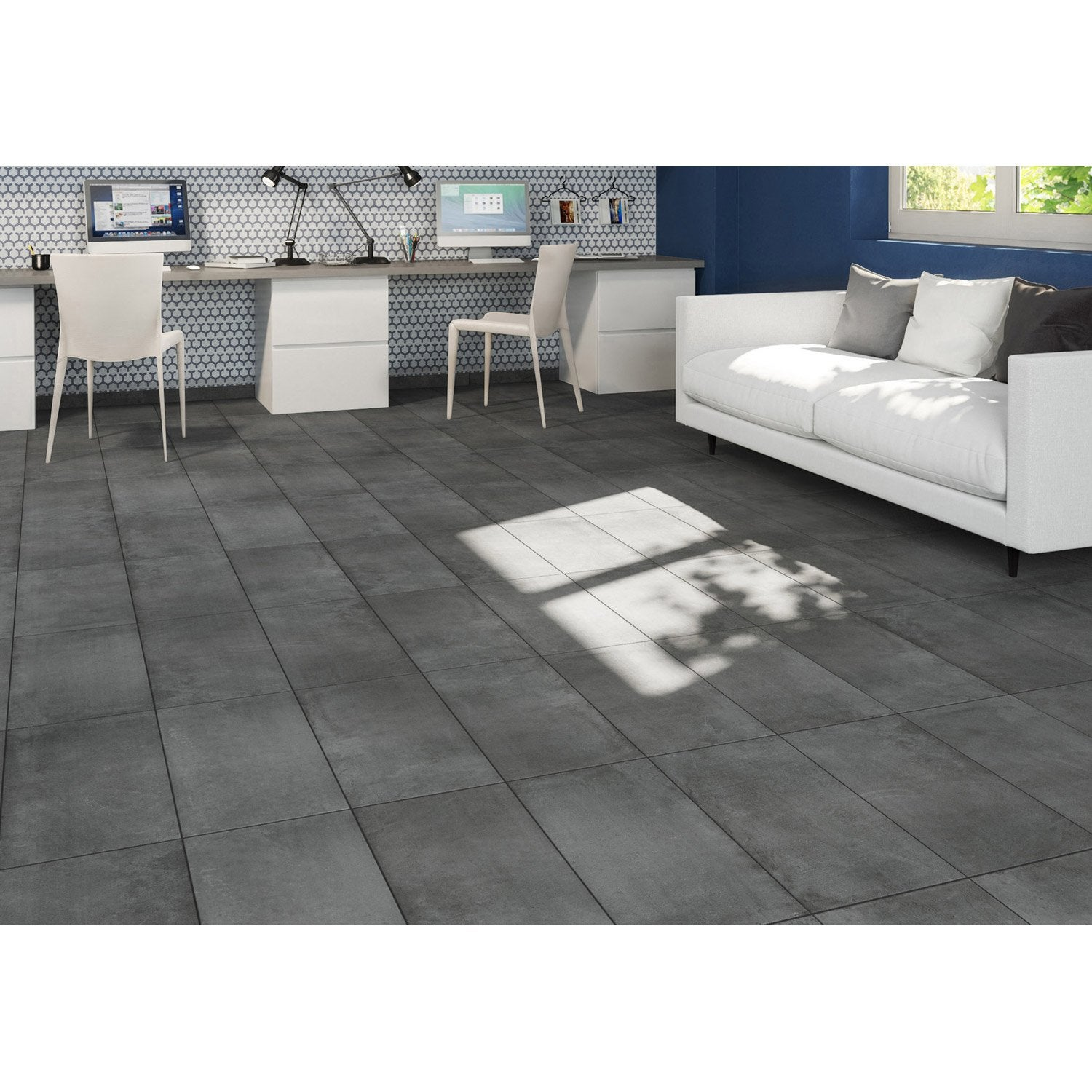 Parquet imitation carrelage leroy merlin trendy beautiful for Beton cire sol salle de bain leroy merlin