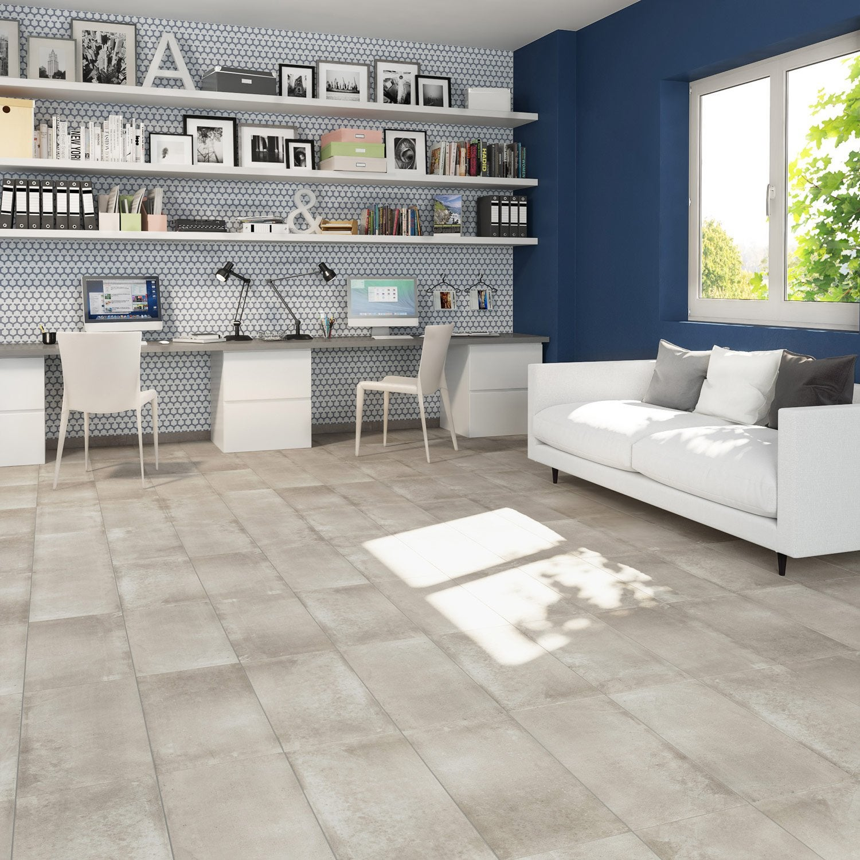 carrelage sol et mur taupe effet b ton proton x. Black Bedroom Furniture Sets. Home Design Ideas