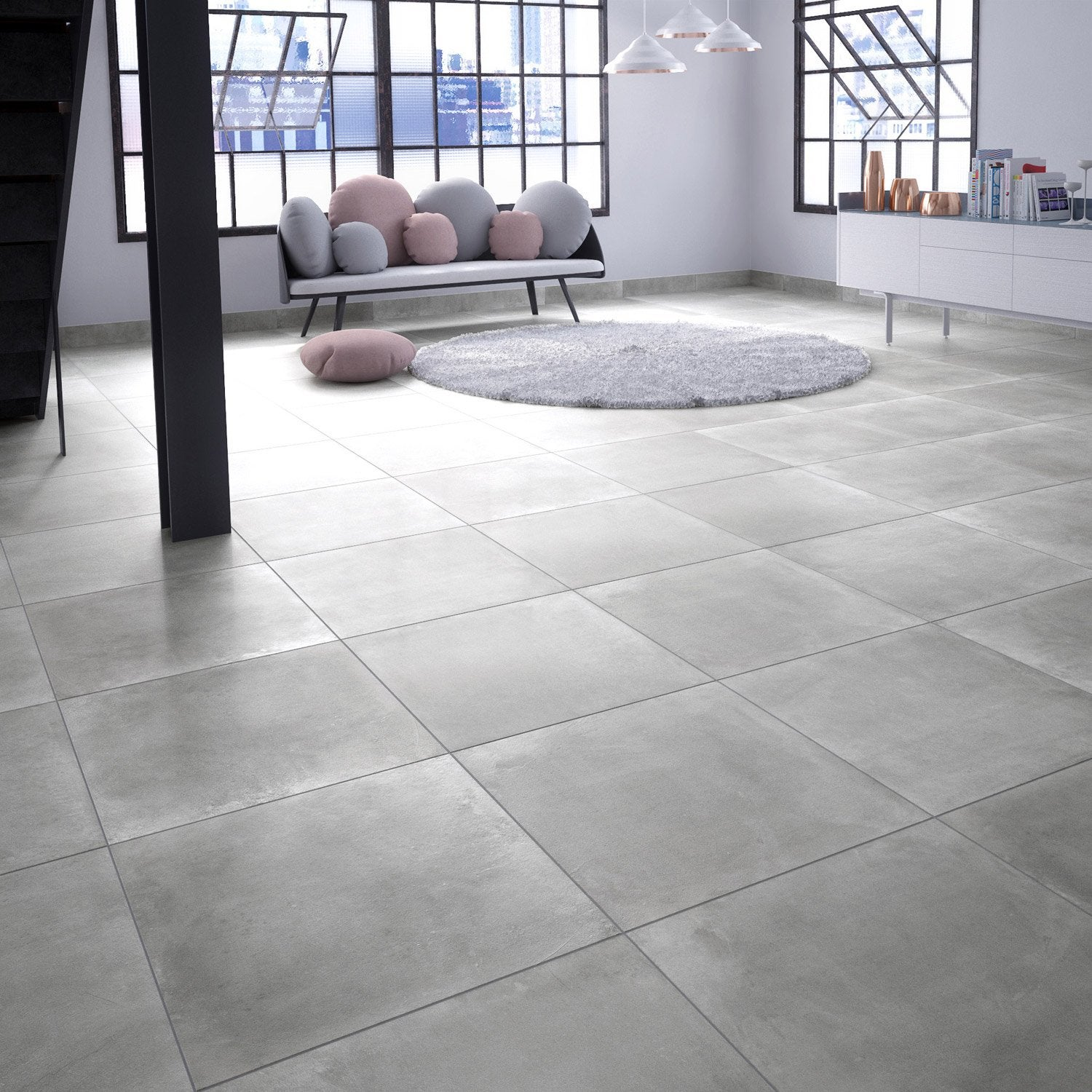 Carrelage imitation parquet gris for Carrelage interieur leroy merlin