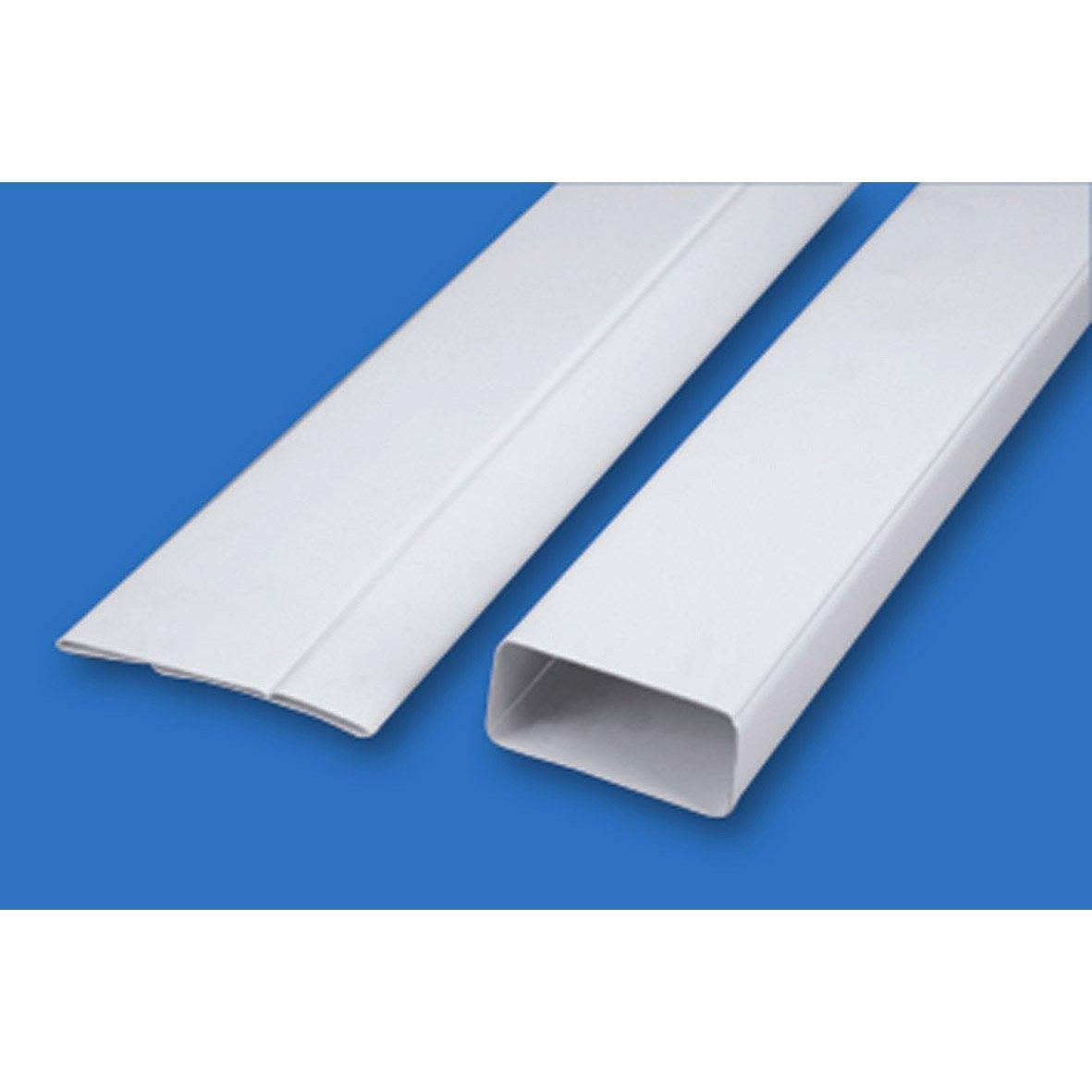Tube rectangulaire rigide plat pvc s p 100 mm 100 mm 1 - Friso pvc leroy merlin ...