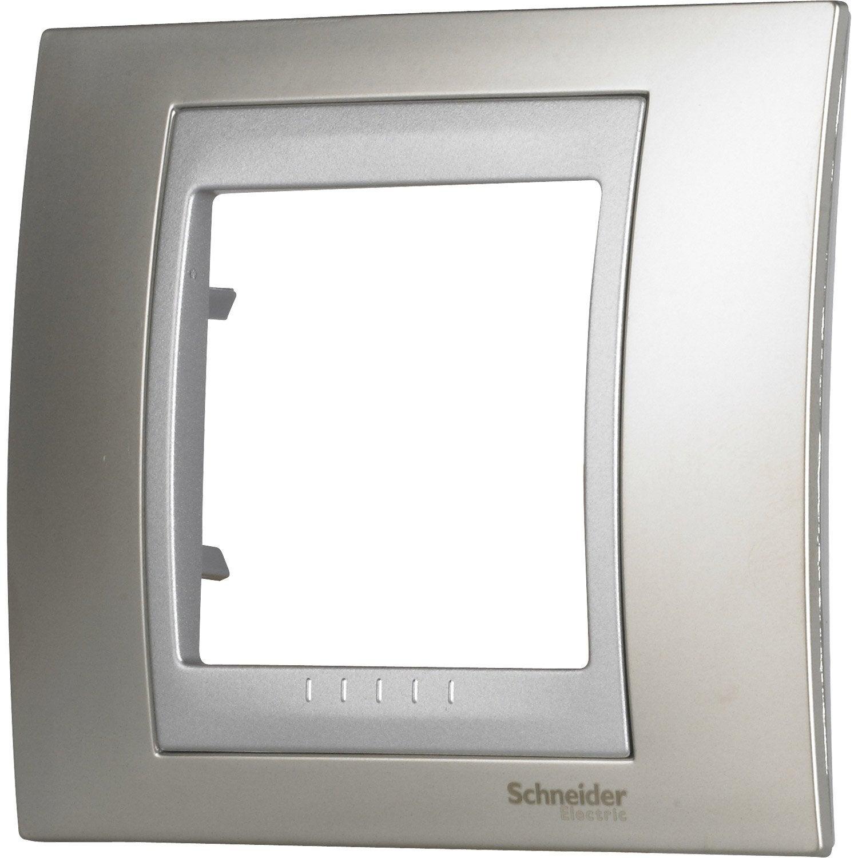 plaque unicatop schneider electric nickel mat et. Black Bedroom Furniture Sets. Home Design Ideas