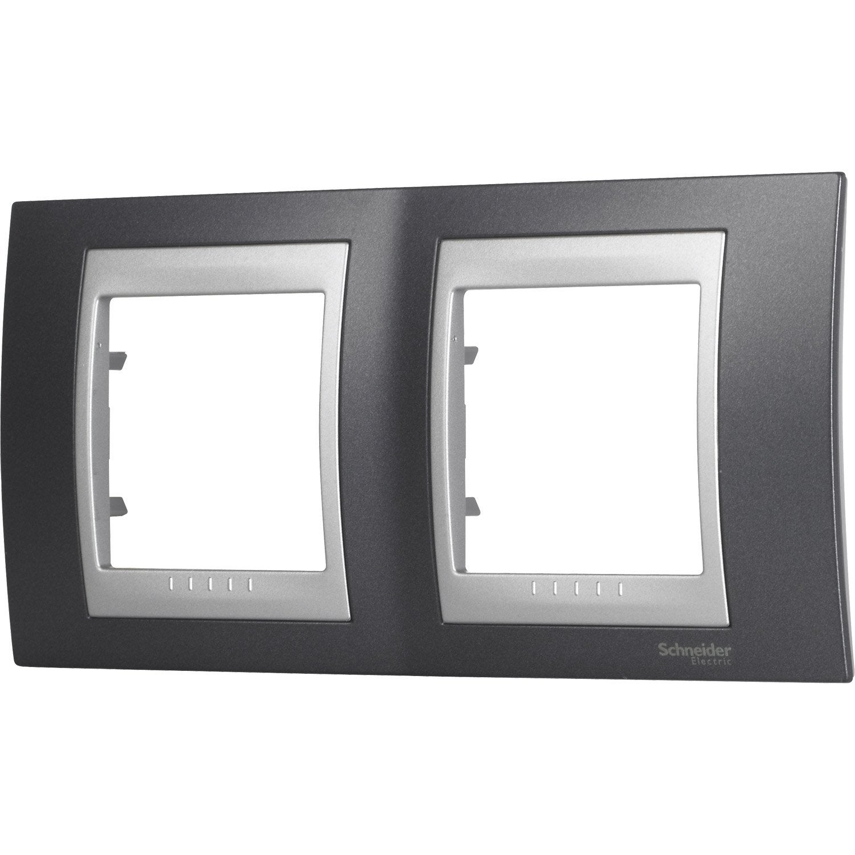 plaque unicatop schneider electric gris m tal et. Black Bedroom Furniture Sets. Home Design Ideas