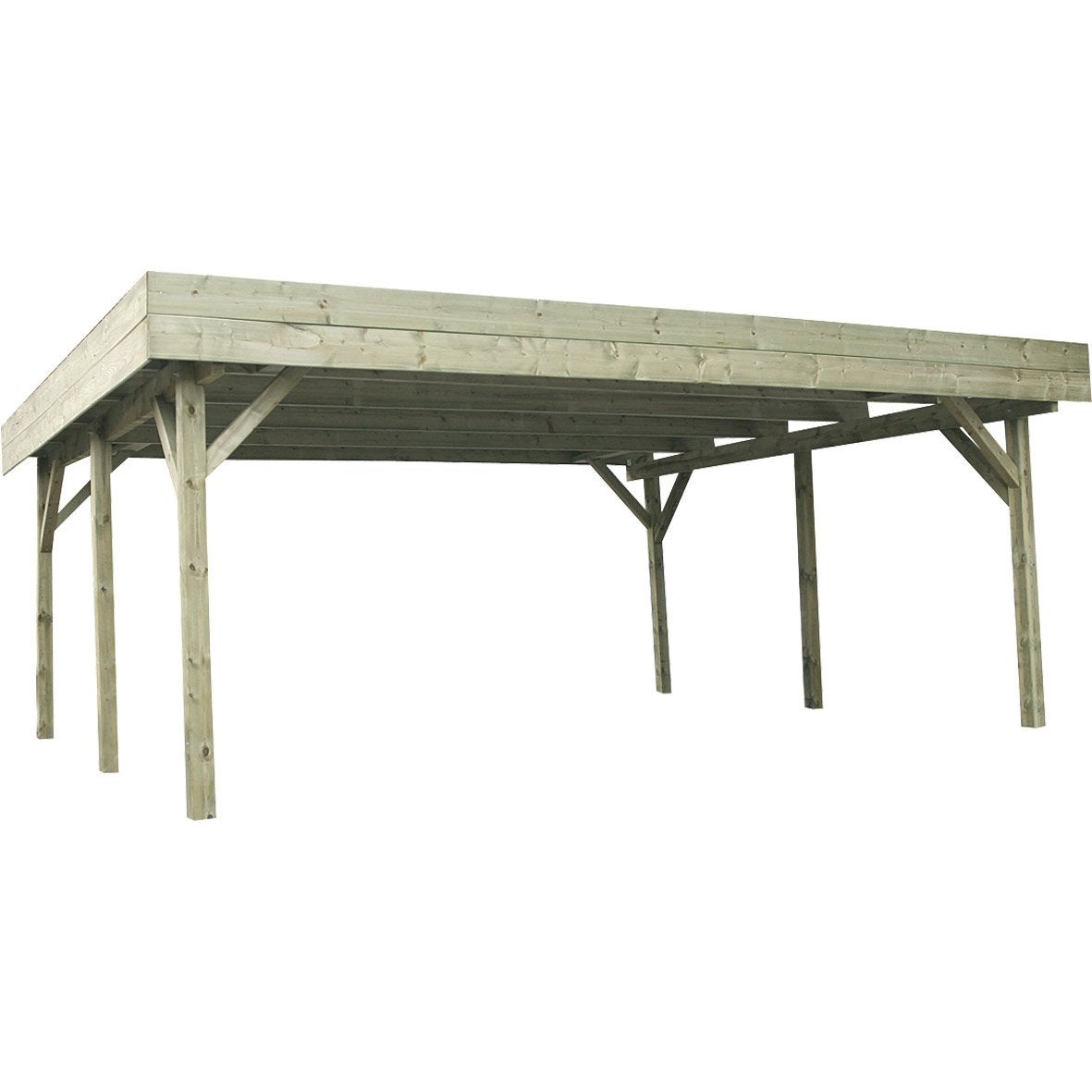 Garage En Bois Leroy Merlin : Carport en bois EVOLUTION, 31.05 m? Leroy Merlin