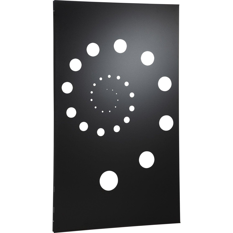 plaque de protection murale helix noir cm leroy merlin. Black Bedroom Furniture Sets. Home Design Ideas