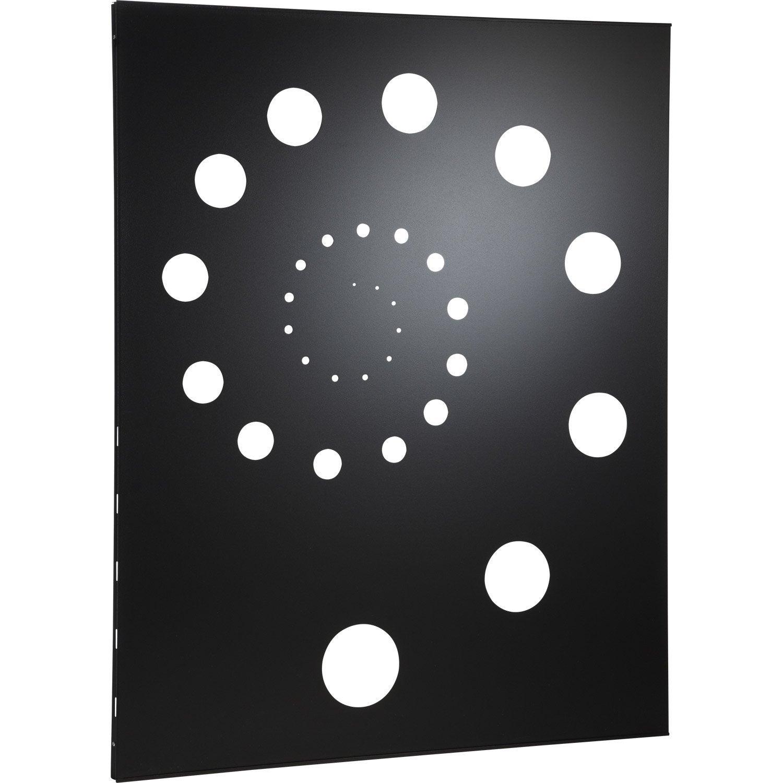 plaque de protection murale noire helix cm leroy merlin. Black Bedroom Furniture Sets. Home Design Ideas