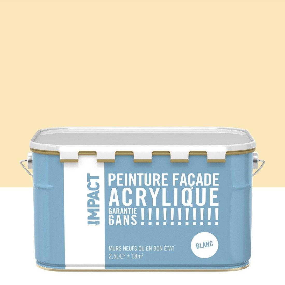 Peinture fa ade acrylique impact ton pierre 2 5 l for Peinture acrylique leroy merlin