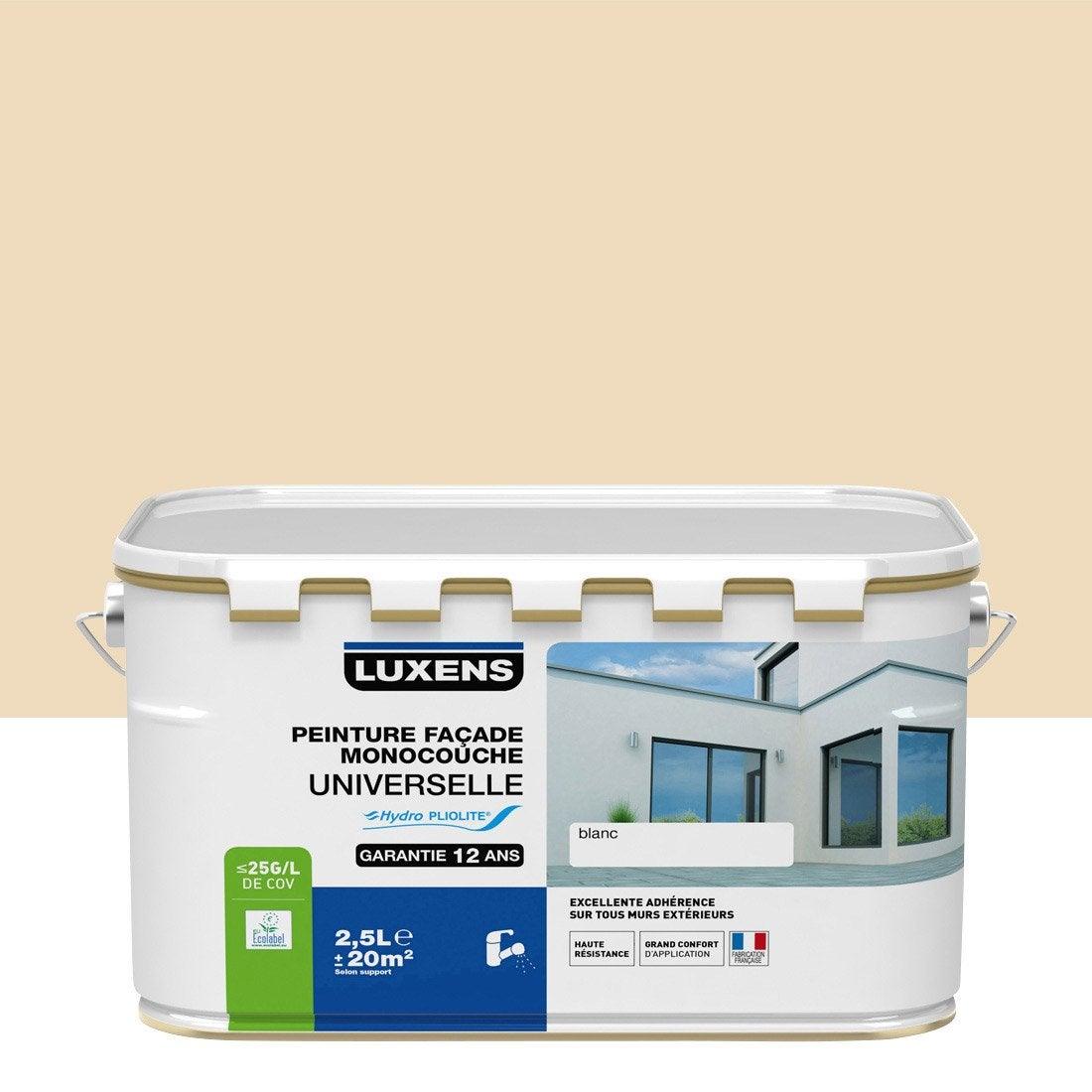 Peinture fa ade universelle luxens sable 2 5 l leroy - Leroy merlin peinture facade ...