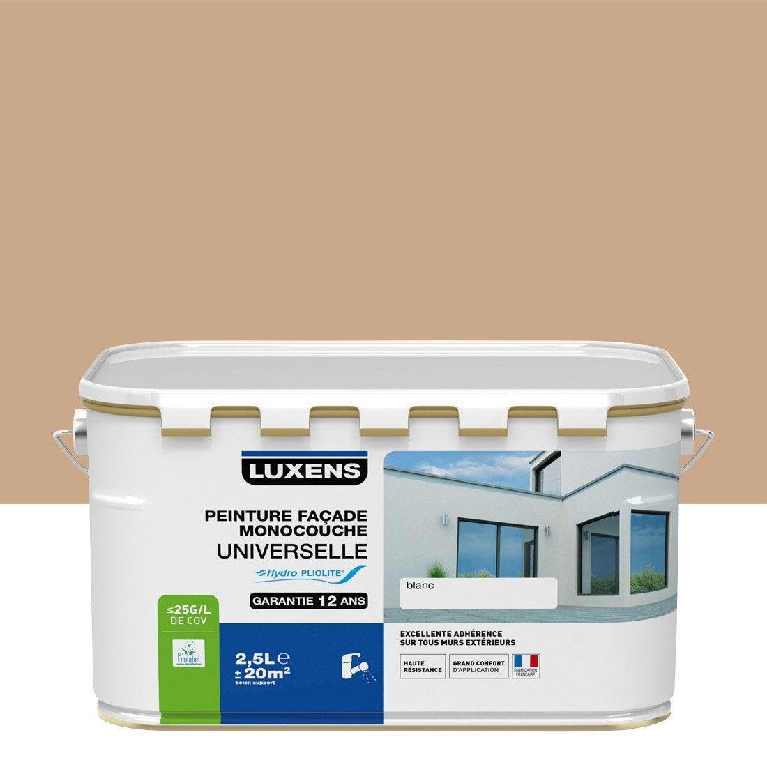 Peinture fa ade universelle luxens ocre proven al 2 5 l leroy merlin - Peinture ocre provencal ...