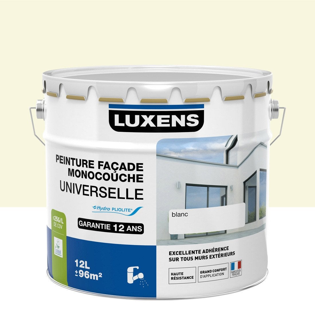 Peinture fa ade universelle luxens meuli re 10 l leroy for Facade couleur sable