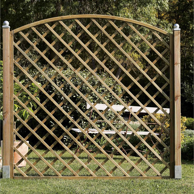 Panneau treilli en bois arc ajour l 180 x h 180 cm naturel leroy merlin - Leroy merlin panneau bois ...