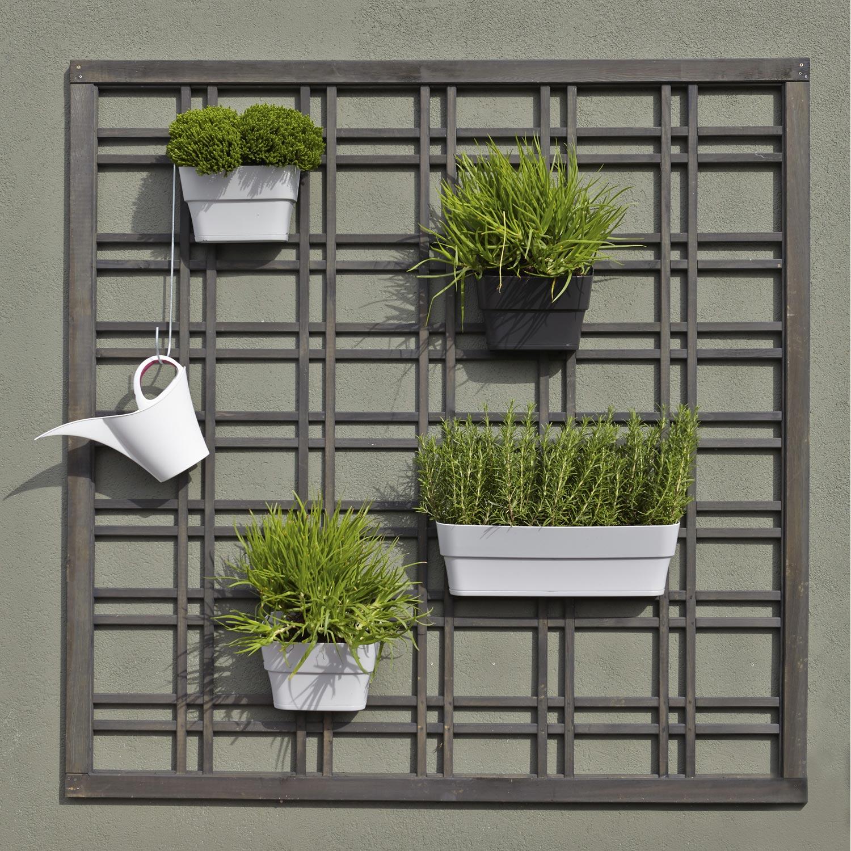 panneau treilli en bois droit ajour l 180 x h 180 cm gris leroy merlin. Black Bedroom Furniture Sets. Home Design Ideas