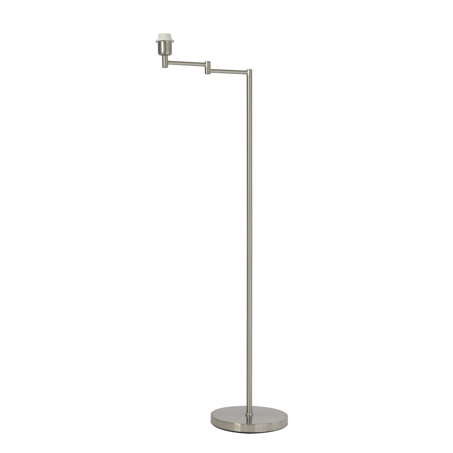 pied de lampadaire arm m tal satin nickel 130 cm inspire leroy merlin. Black Bedroom Furniture Sets. Home Design Ideas