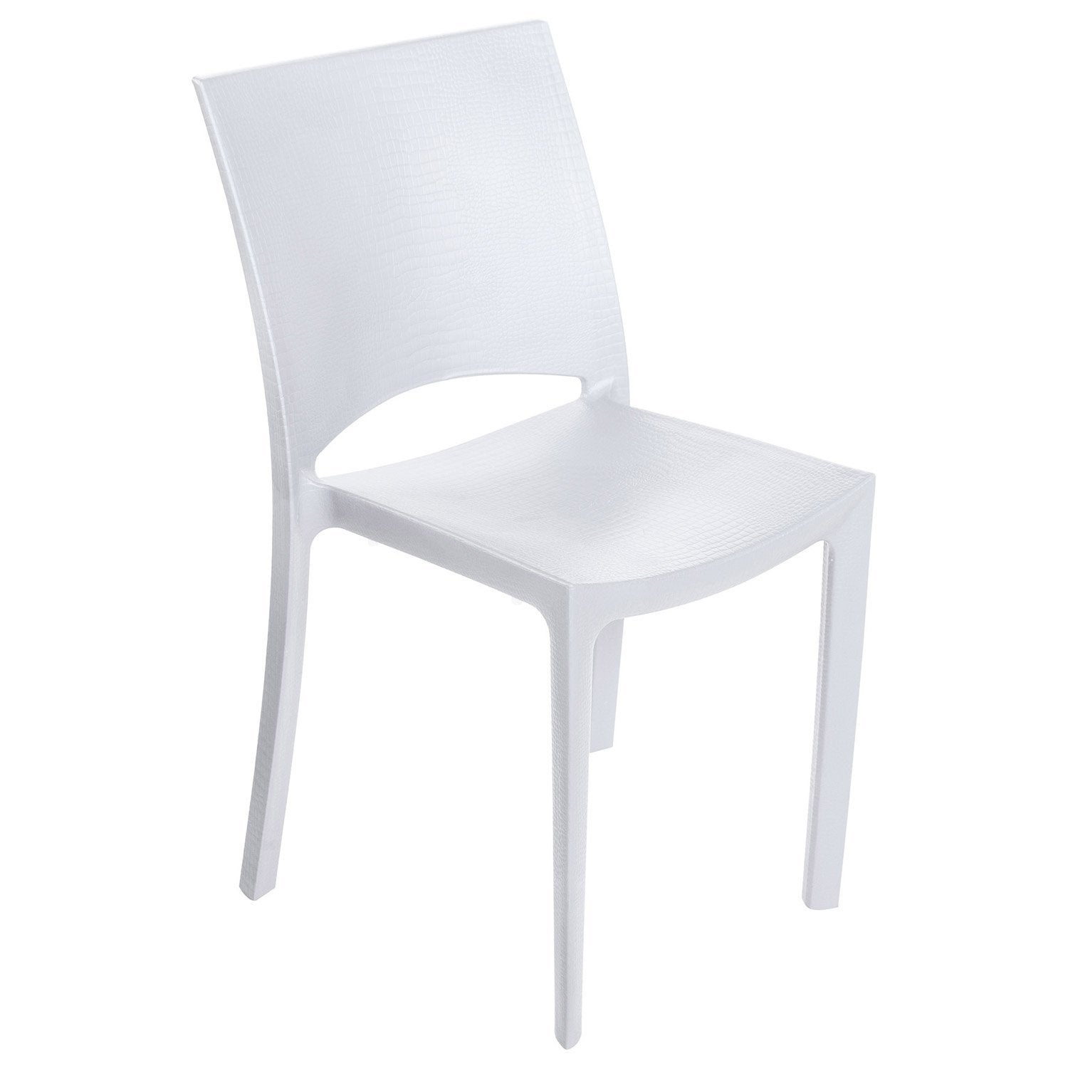 Chaise de jardin en r sine cocco blanc leroy merlin for Chaise longue leroy merlin