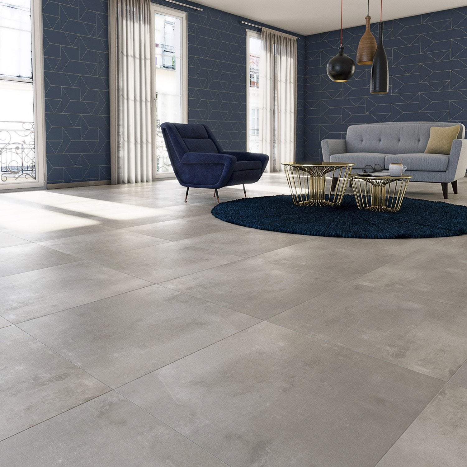 Carrelage 60x60 gris clair interesting beton cire for Carrelage 60x60 gris clair