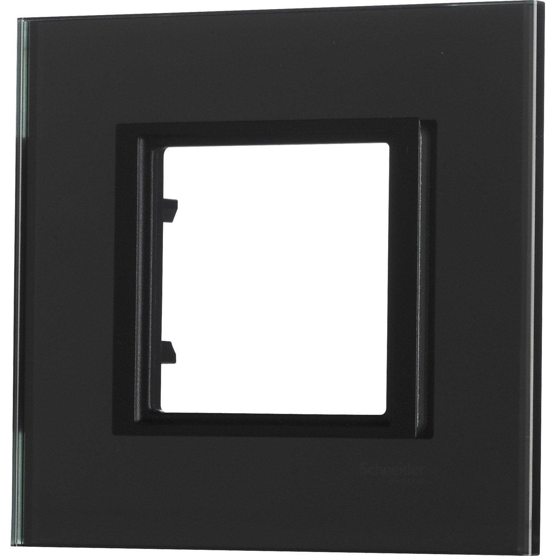 Plaque simple unicatop schneider electric noir miroir leroy merlin - Miroir noir leroy merlin ...