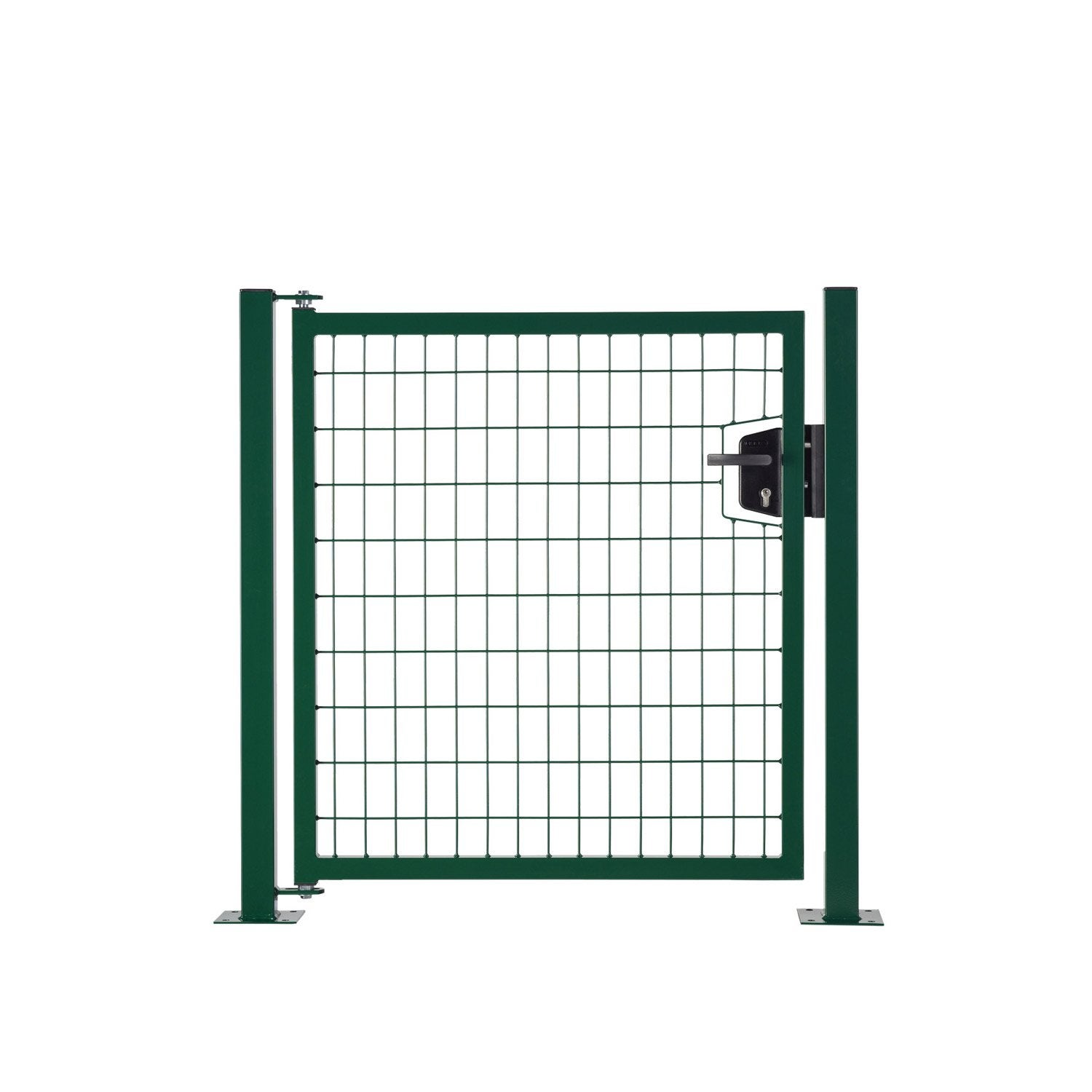 Portillon vert h 1 x l 1 m maille x mm leroy for Portillon de jardin en fer