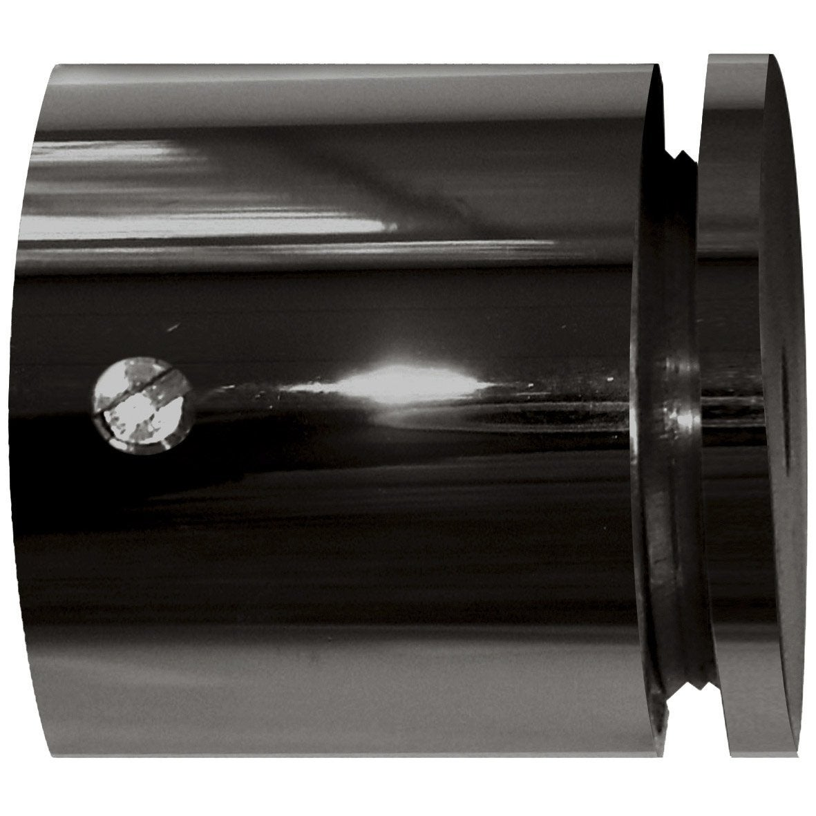 naissance tringle rideau classic chic nickel noir 20 mm noir leroy merlin. Black Bedroom Furniture Sets. Home Design Ideas