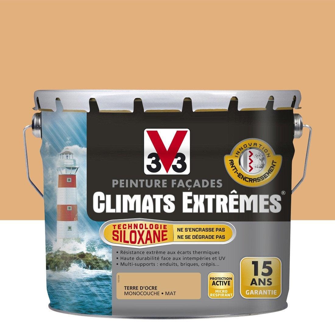 peinture fa ade climats extr mes v33 terre d 39 ocre 10 l