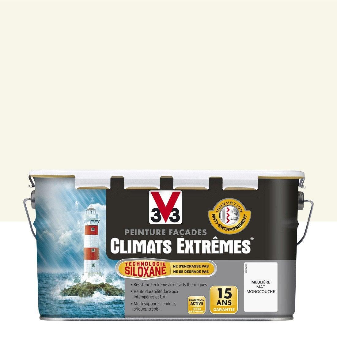 Peinture fa ade climats extr mes v33 meuli re 2 5 l for Peinture haute temperature leroy merlin