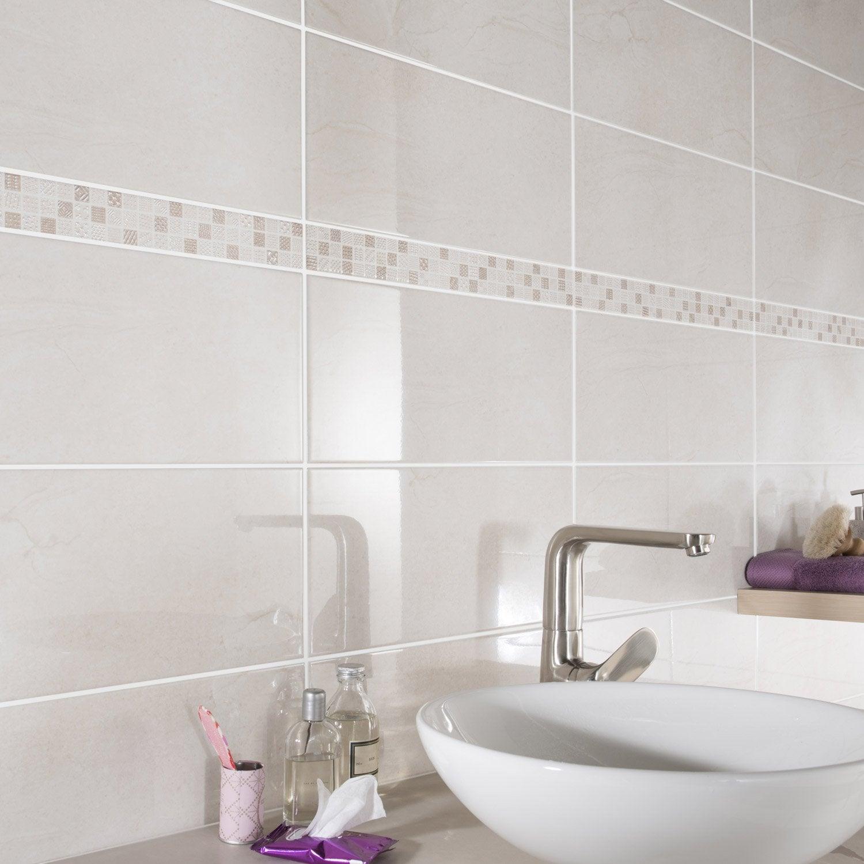 carrelage mural et faïence pour salle de bains et crédence de ... - Leroy Merlin Carrelages Salle De Bain