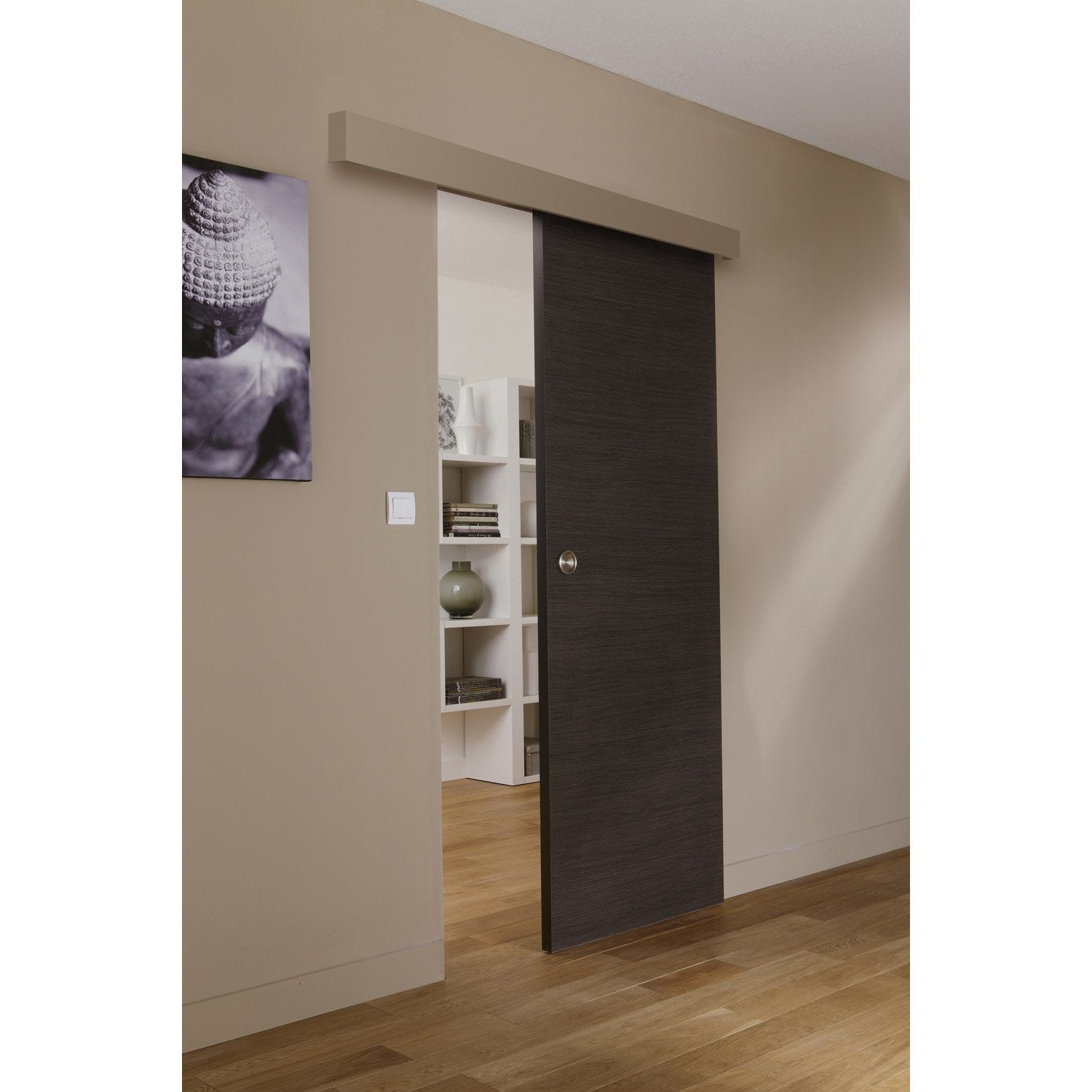 ensemble porte coulissante londres mdf rev tu avec le zumba en acier leroy merlin. Black Bedroom Furniture Sets. Home Design Ideas