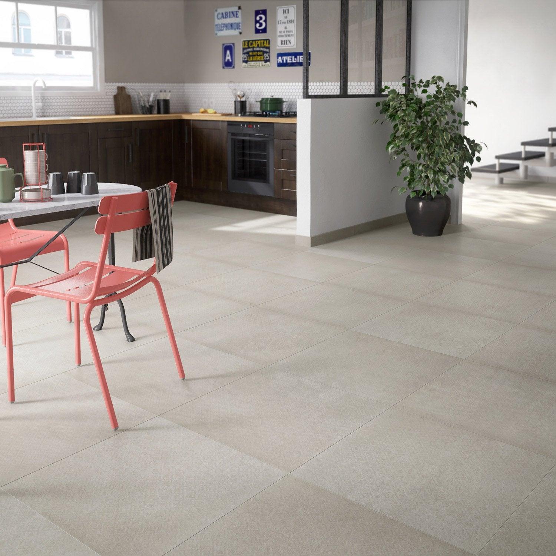 carrelage sol blanc effet ciment tonnerre x. Black Bedroom Furniture Sets. Home Design Ideas