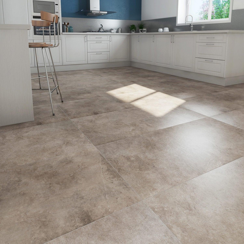 carrelage sol et mur beige effet pierre atmosphere x cm leroy merlin. Black Bedroom Furniture Sets. Home Design Ideas