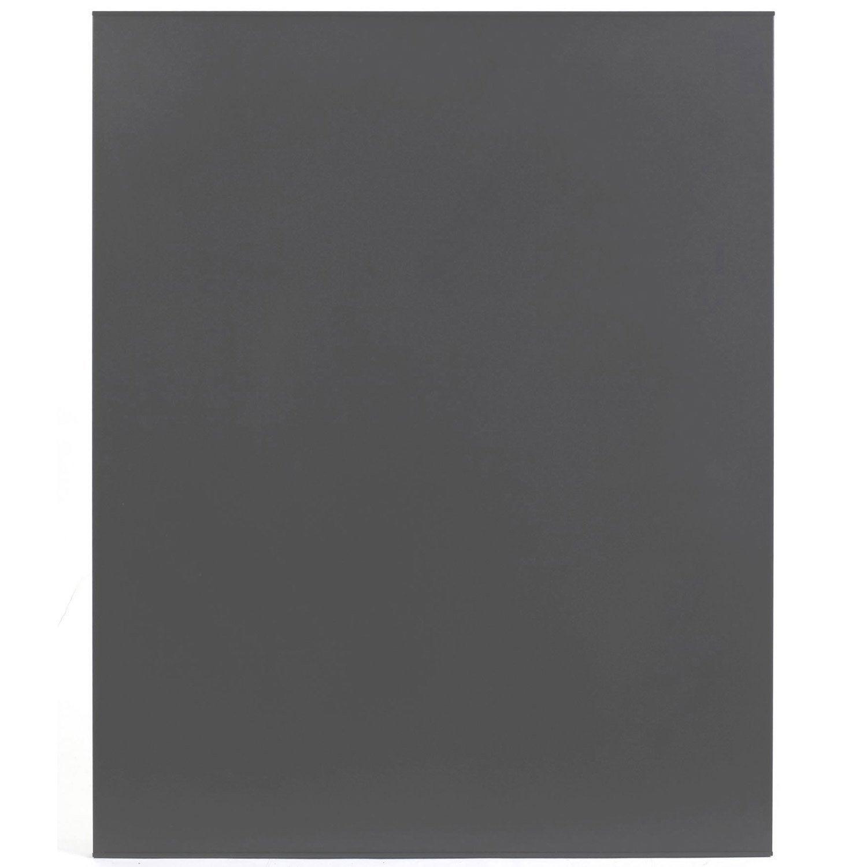 plaque de protection murale en acier atelier dix neuf unie x gris leroy merlin. Black Bedroom Furniture Sets. Home Design Ideas