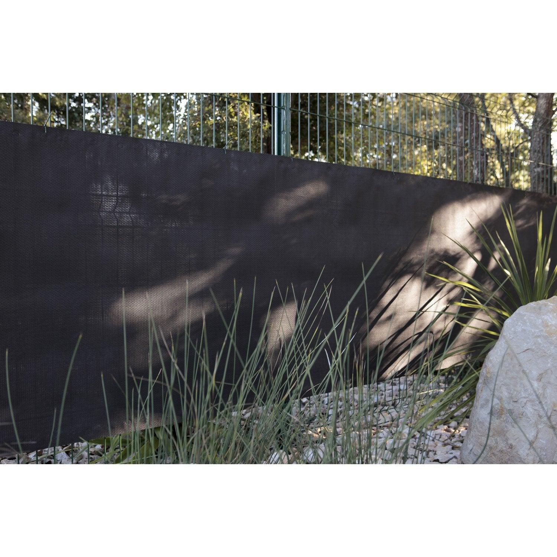 Brise vue sans attache naterial h 100 x l 500 cm leroy merlin - Brise vue noir leroy merlin ...