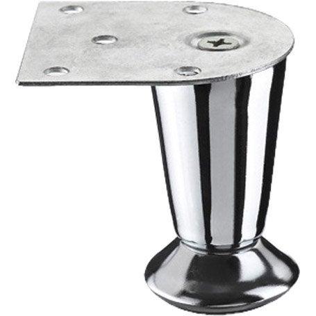 Pied de meuble cylindrique fixe acier chrom gris 7 cm leroy merlin - Pied meuble leroy merlin ...