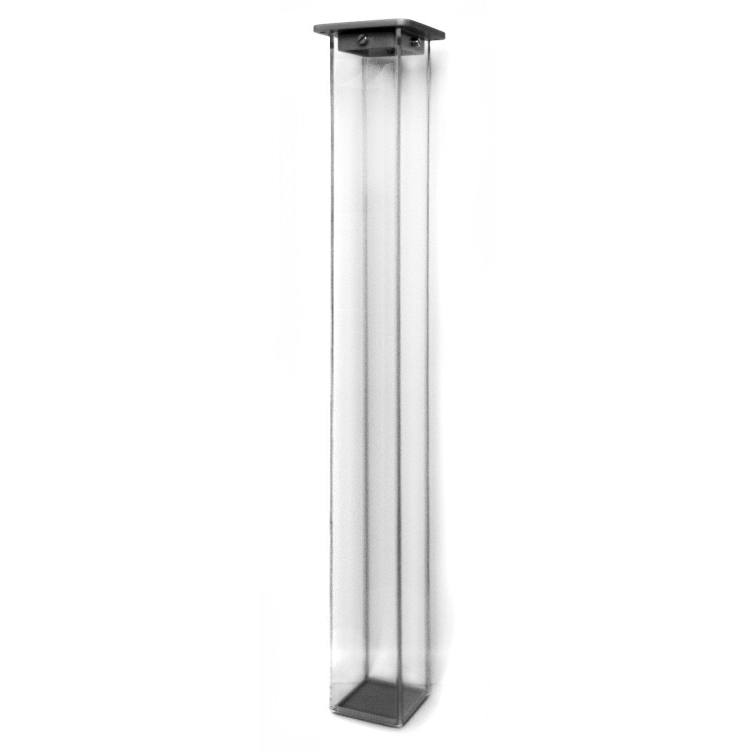 Pied de table carr fixe plastique brut transparent 70 cm leroy merlin - Leroy merlin pied de table ...