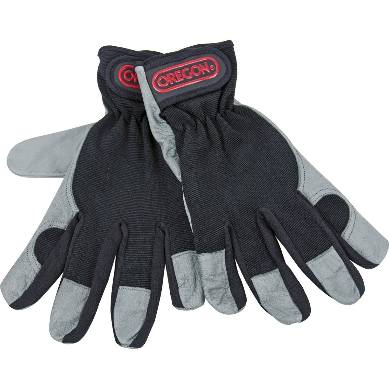 gants de jardinage en cuir oregon noir et gris taille 9. Black Bedroom Furniture Sets. Home Design Ideas