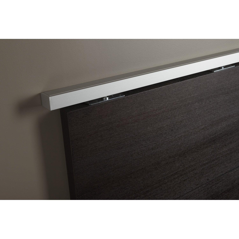 rail coulissant et habillage aluminium anodis porte de largeur 93 cm maxi leroy merlin. Black Bedroom Furniture Sets. Home Design Ideas