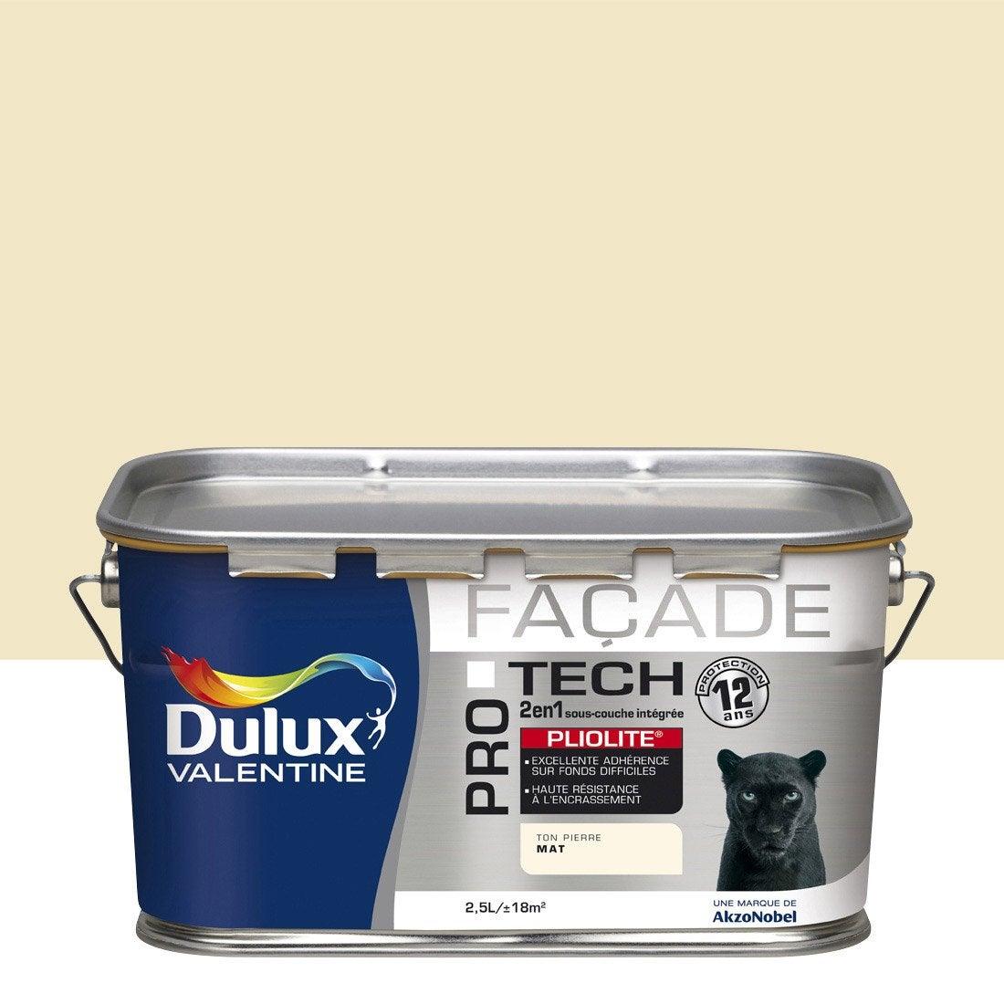 peinture fa ade protec pliolite dulux valentine ton pierre 2 5 l leroy merlin. Black Bedroom Furniture Sets. Home Design Ideas