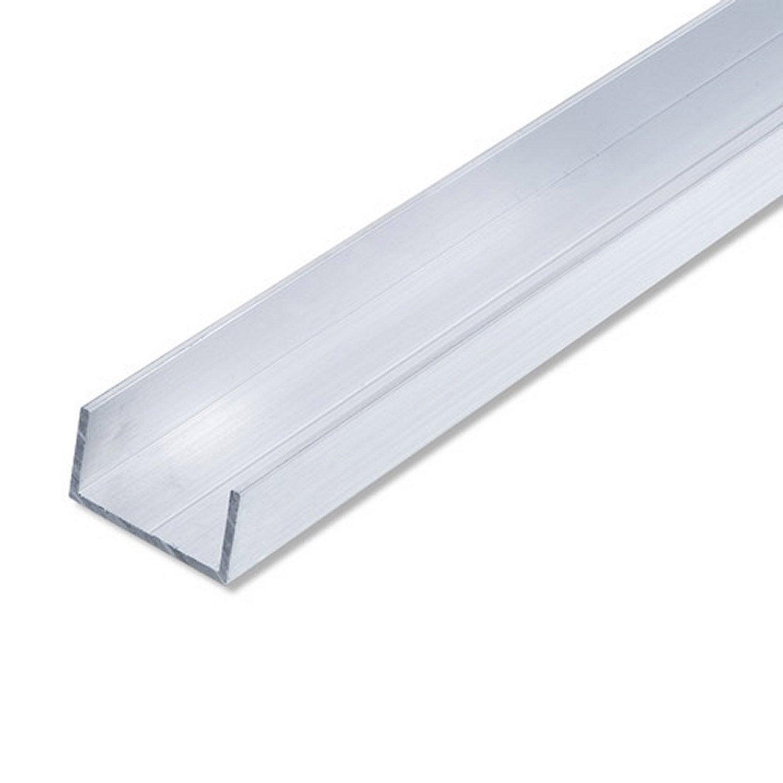 U rectangulaire aluminium brut l 2 5 m x l cm x h 2 - Profile alu en u leroy merlin ...