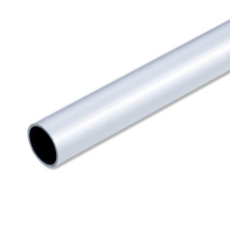 Tube rond aluminium anodisu00e9, L.1 m x Diam.25 mm : Leroy Merlin