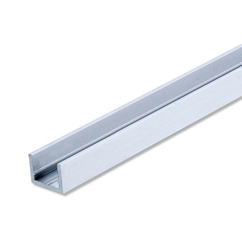 U rectangulaire aluminium anodis l 2 m x l cm x h 1 cm leroy merlin - Plaque en fer leroy merlin ...