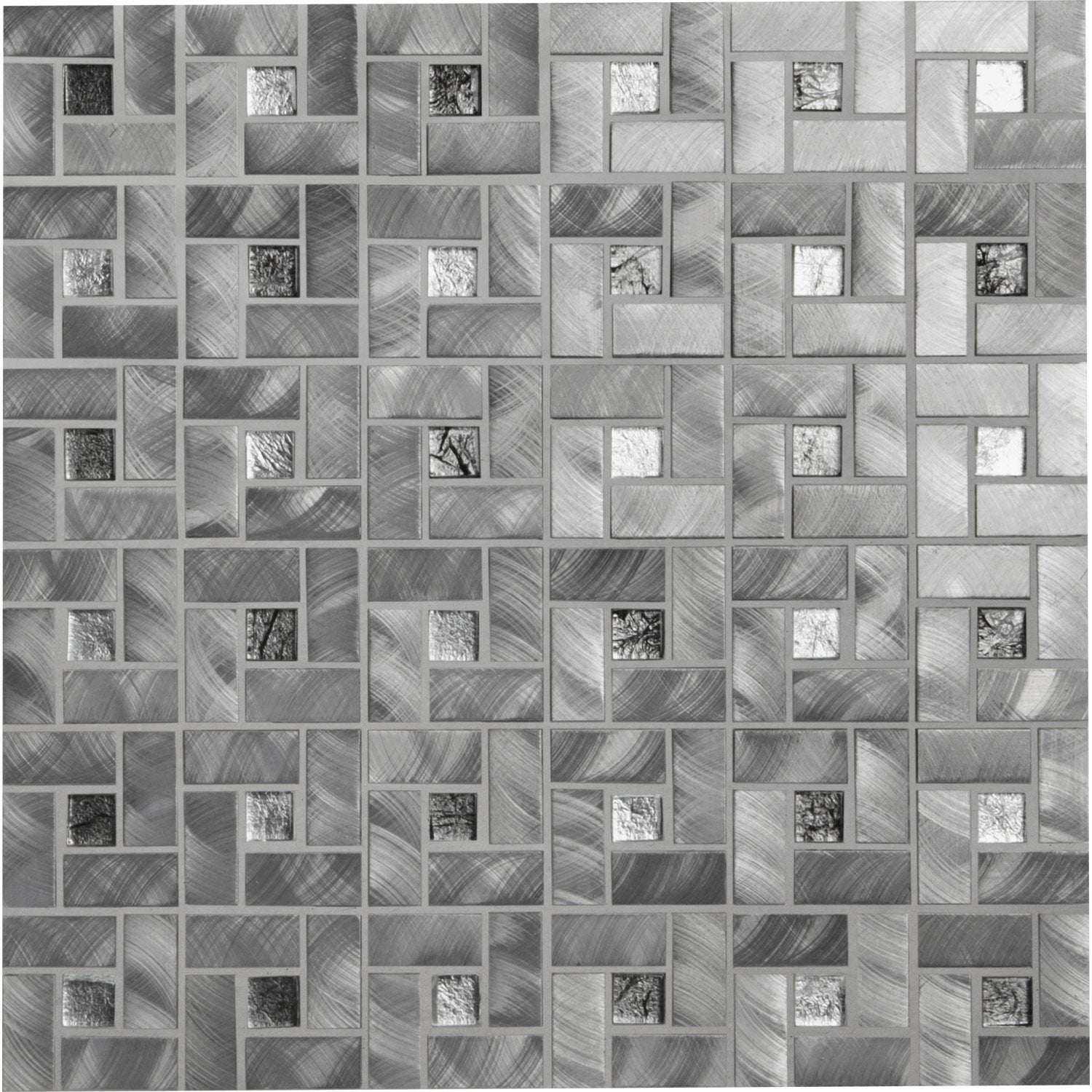 Mosa que square gris leroy merlin for Mosaique travertin leroy merlin