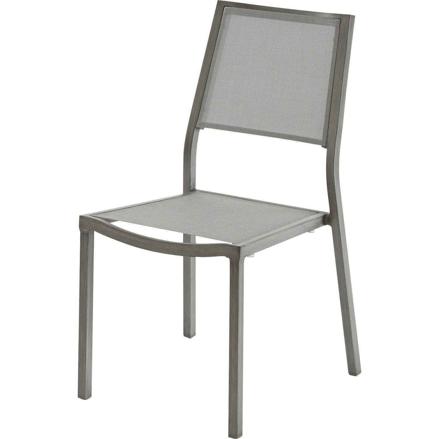 Chaise aluminium jardin for Chaise salon de jardin aluminium
