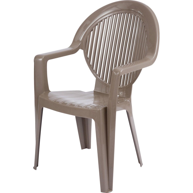 Fauteuil de jardin en r sine fidji taupe leroy merlin - Casa chaise de jardin ...