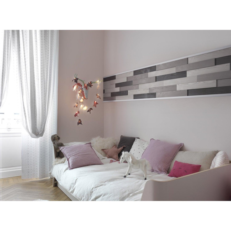 lambris adh sif pin rabot gris clair x l 7 cm et 18 mm leroy merlin. Black Bedroom Furniture Sets. Home Design Ideas
